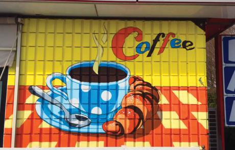 Dipinto Murale Caffetteria